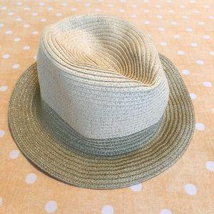 Neutral & Gold Sun Hat